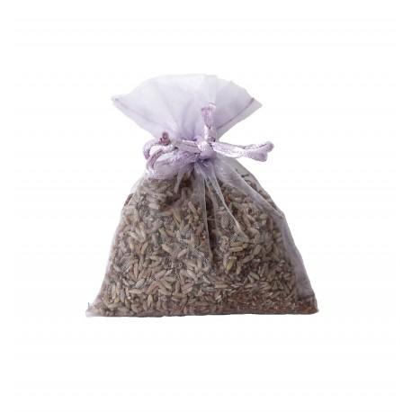 Sacchettino organza con semi di lavanda